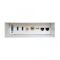 CAIXA DE LIGAÇÃO AISENS A127-0340 / VGA - 2 * HDMI - JACK3.5 - RCA - 1 * USB - 2 * RJ45