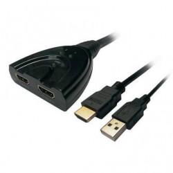 DOUBLER HDMI AISENS A123-0128 / 2X HDMI FÊMEA - HDMI MACHO - MACHO USB