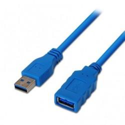 USB CABO DE EXTENSÃO 3.0 AISENS A105-0045 / MACHO USB - FEMININO USB / 1M / AZUL