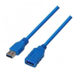 USB CABO DE EXTENSÃO 3.0 AISENS A105-0046 / MACHO USB - FEMININO USB / 2M / AZUL