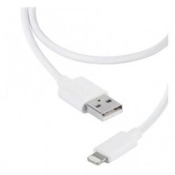 CABO RELÂMPAGO USB VIVANCO 36300 / USB MASCULINO - RELÂMPAGO MASCULINO / 2M / BRANCO
