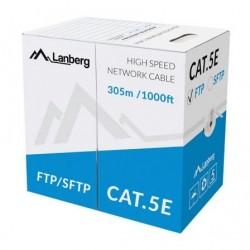 FTP CABO RJ45 CARRETEL LANBERG LCF5-11CU-0305-S 5E / 305M / CINZENTO