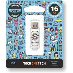 PENDRIVE 16GB UM CERVEJAS TECNOLOGIA TECH & BYTES SAN CERVEJA MIDRIVE USB 2.0