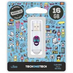 16GB PENDRIVE MAYA CRÂNIO ONE TECK UM USB 2.0