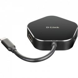 USB HUB D-LINK DUB-M420 / 2 USB / HDMI 1/1 PORTOS RAIO 3