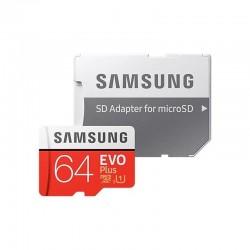 SAMSUNG CARTÃO DE MEMÓRIA MICROSD 64GB EVO MAIS XC / ADAPTADOR CLASSE 10 / 100MBS