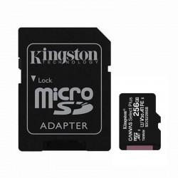 CARTÃO DE MEMÓRIA KINGSTON ALÉM DE 256GB LONA MICROSD XC SELECIONAR ADAPTER / CLASSE 10 / 100MBS
