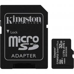 KINGSTON LONA CARTÃO DE MEMÓRIA MICROSD HC 32GB ALÉM DE SELECIONAR ADAPTER / CLASSE 10 / 100MBS