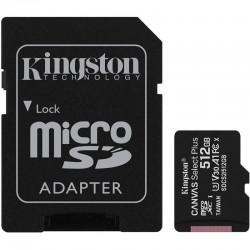 CARTÃO DE MEMÓRIA KINGSTON ALÉM DE 512GB MICROSD LONA XC SELECIONAR ADAPTER / CLASSE 10 / 100MBS