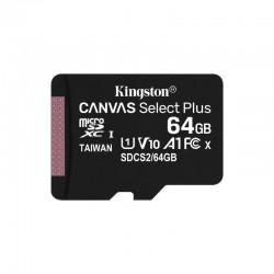 CARTÃO DE MEMÓRIA KINGSTON 64GB LONA MICROSD ALÉM DE SELECIONAR XC / CLASSE 10 / 100MBS