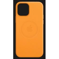 Apple iPhone 12 Mini Leather Case with MagSafe - California Poppy EU